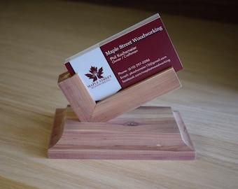 Unique Wood Business Card Holder