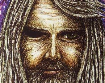 Odin Greeting Card, Norse Card, Pagan Greeting Card, Blank Card, Birthday Card,  Printed Art Card, Eco Card, Asatru Art Card, Heathen