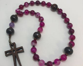 Protestant Prayer Beads - FREE gift chaplet with purchase - Anglican / Christian Prayer Beads / Rosary / Methodist / Wooden cross