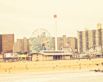 Coney Island - Zyklon - Wonder Wheel - fine-Art Print - Vintage-Fotografie-Brooklyn New York