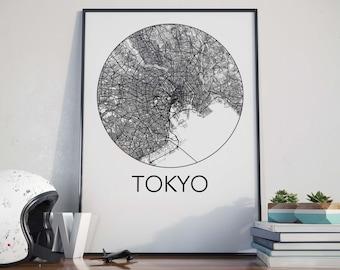 Tokyo, Japan Minimalist City Map Print