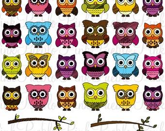 Cute Doodle Owl Clipart Clip Art, Doodle Owl Clipart Clip Art Vectors - Commercial and Personal