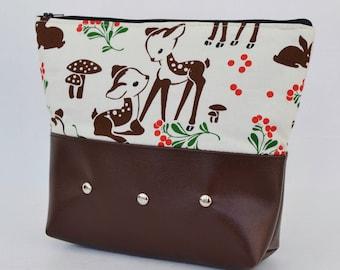 Doe Eyed Makeup Bag in Brown