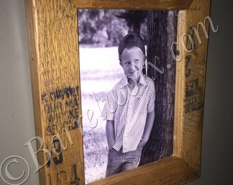bourbon whiskey barrel picture frame