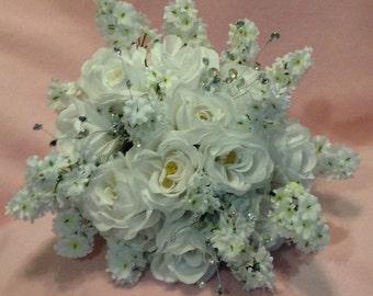 Silk Flower Wedding Bouquet Package