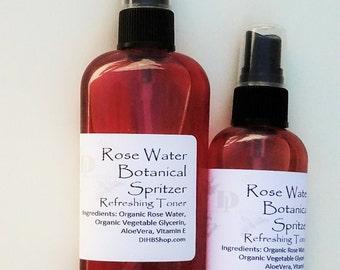 Rose Water Botanical Spritz Refresher Toner -