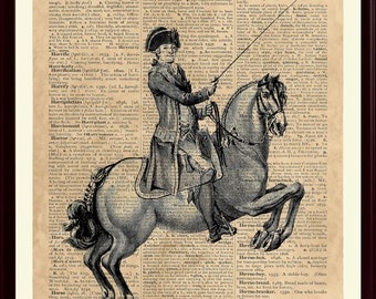 Horse art, Horse Riding Print, Equestrian Decor, Gift for Horse Lover, Horse Riding Poster, Horseback Riding, Equine Art, SKUH1
