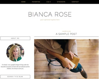 """Blogger Template, Blog Template - """"Bianca 