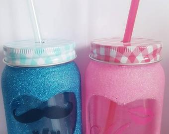 Mr & Mrs mason jars