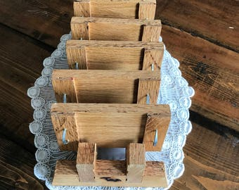 rustic miniature wooden tray coasters