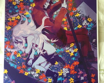 On floor B1- Angels of Death/ Satsuriku no Tenshi Inspired Fanart Print