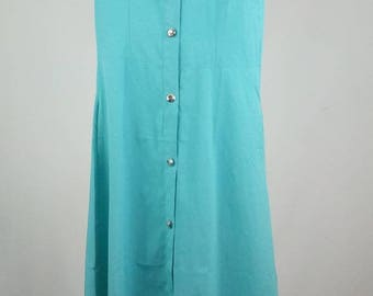 Teal mid length dress