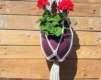 Macrame Plant Hanger, Hanging Planter, Plant Holder, Macrame Plant Holder, Pot Hanger, Cotton Hanging Planter, Macrame Hanger, Bowl Hanger