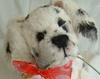 Mohair, artist bear, Dog Puppy, Dalmatian, Alaine Ferreira, Bearflair.