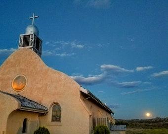 San Ysidro church at moonrise