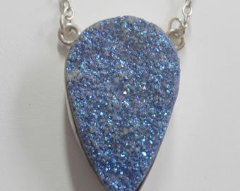 Druzy Necklace Blue Drusy