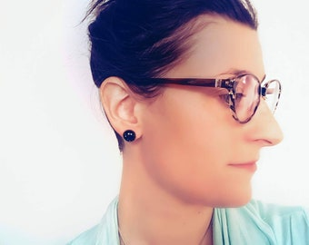Midnight Star - Black earrings, confetti, pretty, simple, lightweight, stainless steel, hypoallergenic