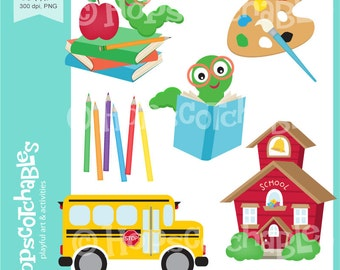 School Digital Clipart, Classroom Clipart, Back to School Digital Download