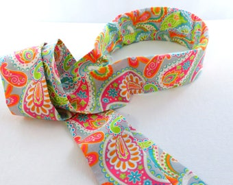 Structured Head Scarf (Bright Paisley Print)