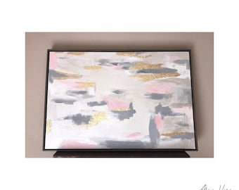 SALE: Belle -Wood Framed Abstract Painting 24x36