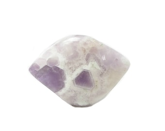 Chevron Amethyst Purple and White Semiprecious Stone Gem Cabochon,  Polished Amethyst Crystal gemstone, DIY Jewelry