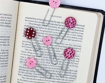 Paperclips - Planner Bookmark - Paperclip Bookmark - Junk Journal Paperclip - Bullet Journal Paperclip - Button Paperclip - Button Bookmark