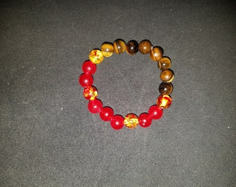 Tigerseye and agate bracelet