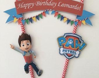 Personalised Paw Patrol Cake Topper