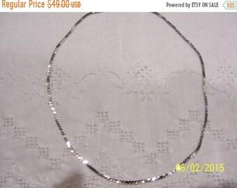 SUMMER SALE 20% OFF, Vintage S Link chain necklace. Sterling silver.