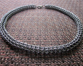 Full Persian Stainless Steel Chainmail Necklace
