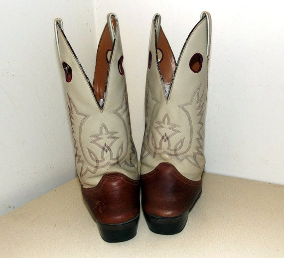 11 nicely Vintage cowgirl size 5 in or size 10 broken D Cowboy Boots 44HwqSA