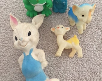 Vintage Squeak Toy Lot