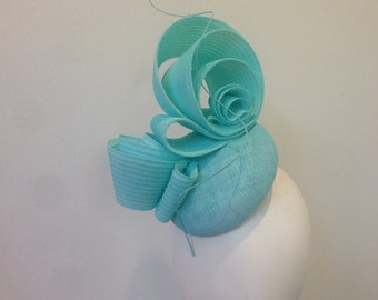 Fascinator, blue Fascinator , Kentucky Derby hat, derby hat, church hat, hat for royal ascot