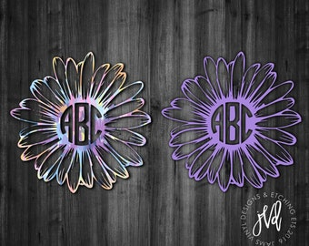 Monogram Daisy Decal| Monogram Decal| Daisy Flower Decal| Daisy Car Window Decal| Monogram Car Window Decal| Vinyl Decal| Monogram Tumbler
