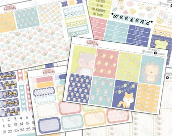 Woodland Springtime: planner stickers, erin condren, eclp, weekly kit, sew much crafting, 1407 planners, annie plans prinables