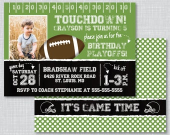 Football invitation Etsy
