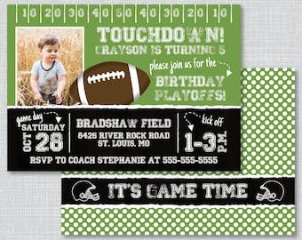 50th birthday football invitations 50 yard line design football birthday party invitations football birthday party football birthday invitations with photo football filmwisefo Gallery