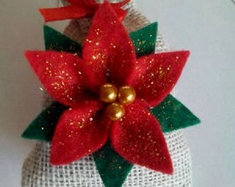 poinsettia scented sachet and dehumidifier