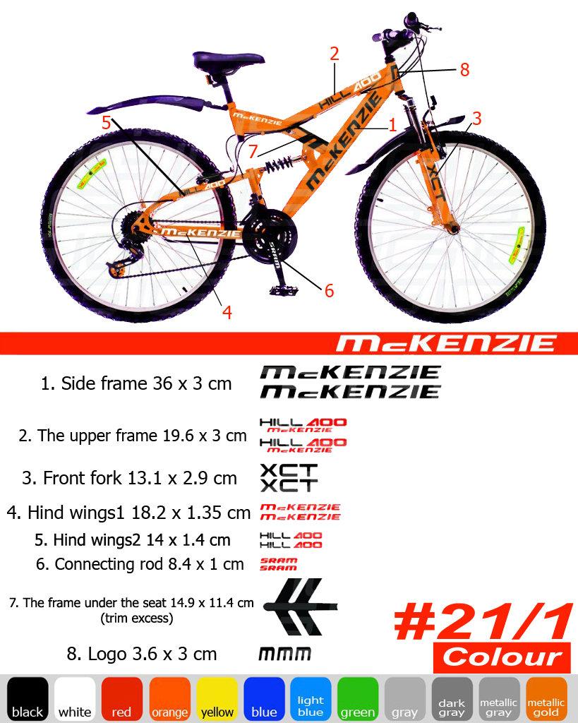 McKENZIE Fahrrad Rahmen Aufkleber Autocollant Fahrrad Berg
