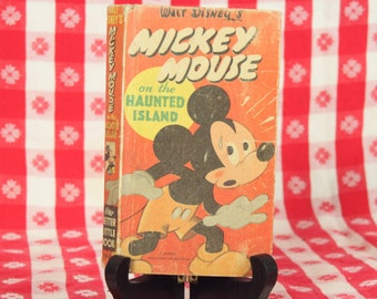 Walt Disney's Mickey Mouse on the Haunted Island, 1946 Children's Book