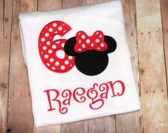 Personalized Minnie Mouse birthday shirt-bodysuit