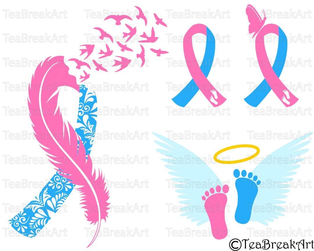 Greatest Pregnancy loss Ribbon Awareness zentangle feather bird flying OX57