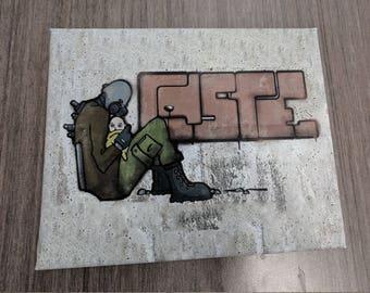 Half Life 2 Graffiti Wall Art Canvas