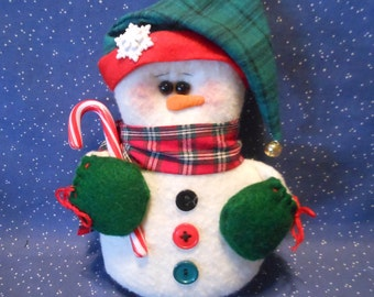 Snowman Ornament, Snowman Doll, Christmas Decor, Holiday Decor, Winter Decor