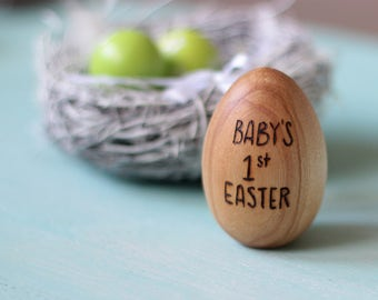Baby's first Easter - Personalized Easter Egg - Easter Gift for Kids - Easter Decoration - Double sided inscription only
