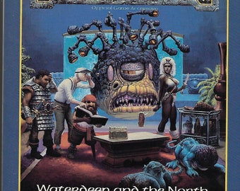 Advanced Dungeons & Dragons FR1 Waterdeep and the North (1987) - Forgotten Realms Official Game Accessory / Out of Print