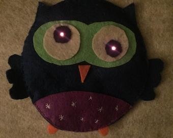 LED Owl Pin