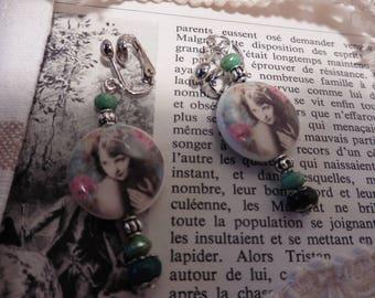 """Cheeky"" earrings porcelain"