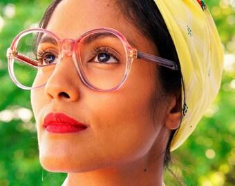 Vintage Eyeglasses 1970s/Glasses/eyeGlasses/Frames Retro Disco New Old stock glasses By Skaga Made In Sweden Multicolor Frames