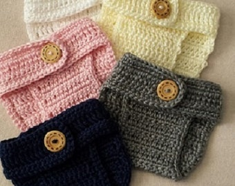 Crochet Diaper Cover - Fun colors - Diaper Cover - Adjustable